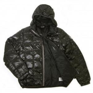 アルマーニ ジャケット 中綿  ダウン フード Mサイズ (ブラック)エンポリオアルマーニ EA7 piazza