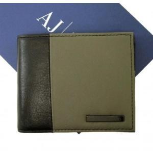アルマーニ 財布 メンズ ジーンズ 財布 札入れ メンズ 二つ折り バイカラー*小銭入れなし *小銭入れ無し|piazza