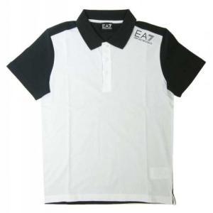 アルマーニ ポロシャツ ホワイト メンズ ゴルフ エンポリオアルマーニ EA7|piazza