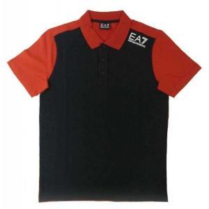 アルマーニ ポロシャツ 黒に近いブルー メンズ ゴルフ エンポリオアルマーニ EA7 piazza