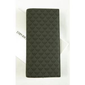 アルマーニ 財布 メンズ 長財布 二つ折 ブラック エンポリオアルマーニ|piazza
