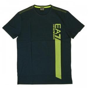アルマーニ Tシャツ メンズ ネイビー ブルー エンポリオアルマーニ EA7|piazza