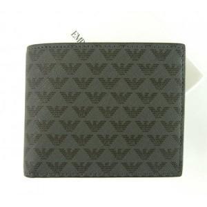 アルマーニ 財布 メンズ ブラック 二つ折 ロゴ エンポリオアルマーニ|piazza