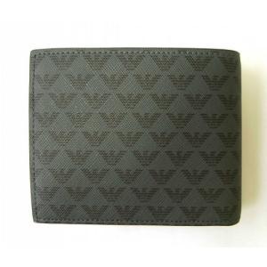 アルマーニ 財布 メンズ ブラック 二つ折 ロゴ エンポリオアルマーニ|piazza|02