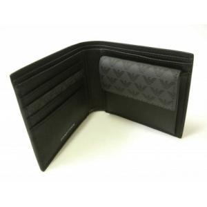 アルマーニ 財布 メンズ ブラック 二つ折 ロゴ エンポリオアルマーニ|piazza|04