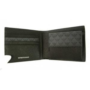 アルマーニ 財布 メンズ ブラック 二つ折 ロゴ エンポリオアルマーニ|piazza|05