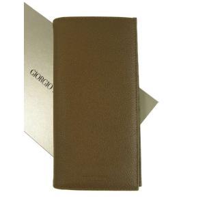 アルマーニ 財布 長財布 メンズ 茶 カード大容量 ジョルジオアルマーニ