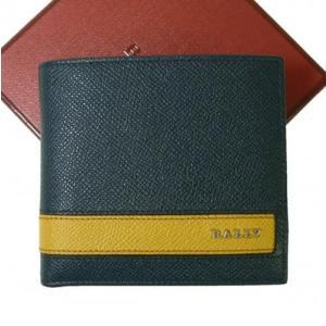 バリー 財布 二つ折 型押しカーフ|piazza
