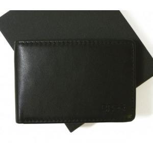 ブリー 財布 二つ折  ブラック 海外モデル 日本札は入りません|piazza