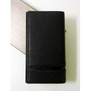 ブルガリ 長財布 グレインカーフレザー ブラック メンズ 二つ折 オクト|piazza