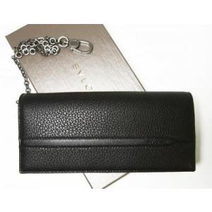 ブルガリ 長財布 ウォレットチェーン 二つ折 グレインカーフ オクト|piazza