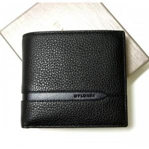 ブルガリ 財布 二つ折 グレインカーフ メンズ ブラック オクト|piazza