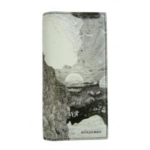 バーバリー 長財布 メンズ 二つ折 カード大容量 ランドスケーププリント|piazza