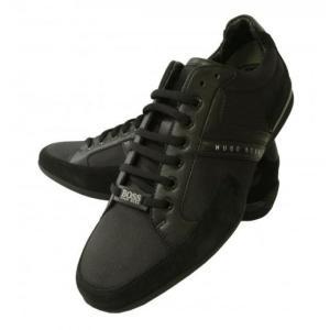 ヒューゴボス スニーカー  靴 シューズ キャンバス レザー BOSS GREEN SPACIT|piazza