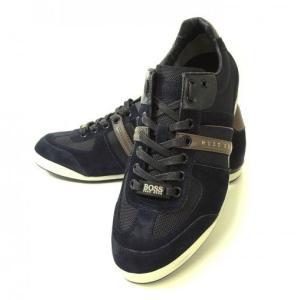 ヒューゴボス スニーカー  靴 シューズ キャンバス レザー BOSS GREEN AKEEN|piazza