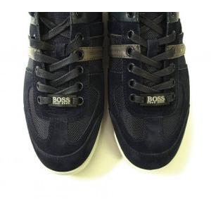 ヒューゴボス スニーカー  靴 シューズ キャンバス レザー BOSS GREEN AKEEN|piazza|04