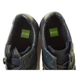 ヒューゴボス スニーカー  靴 シューズ キャンバス レザー BOSS GREEN AKEEN|piazza|06