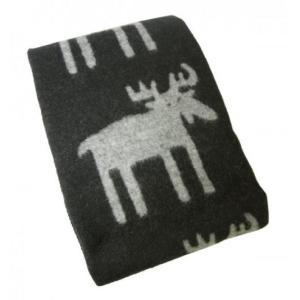 クリッパン ブランケット ウール シングル 暖かい 毛布 北欧 MOOSE 130×180cm piazza