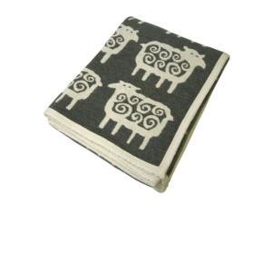 クリッパン ブランケット おしゃれ 綿 オーガニックコットン シェニール 北欧 羊 SHEEP 140×180cm piazza