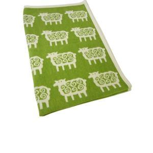 クリッパン ブランケット ハーフケット 綿 オーガニックコットン シェニール 北欧 羊 SHEEP 90×140cm piazza
