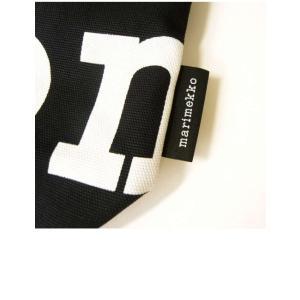 マリメッコ トートバッグ ブラック 黒  ショッピングバッグ Notko Logo ロゴ|piazza|04