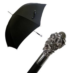 パソッティ メンズ 傘 かさ ブラック 帽子を被ったサル Style 478|piazza