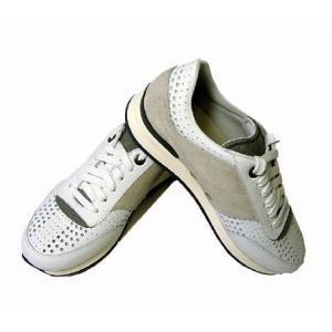フェラガモ スニーカー 靴 メンズ パンチング レザー TERENCE (ホワイト) 8.5(日本サイズ約27cm)|piazza