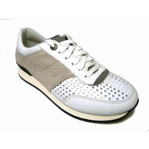 フェラガモ スニーカー 靴 メンズ パンチング レザー TERENCE (ホワイト) 8.5(日本サイズ約27cm) piazza 06