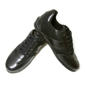 フェラガモ スニーカー 靴 メンズ ファブリック レザー 9.5(日本サイズ約28cm) SAMMY2 (ブラック)|piazza