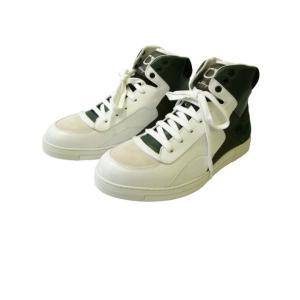 フェラガモ スニーカー  靴 メンズ ハイカット レザー|piazza