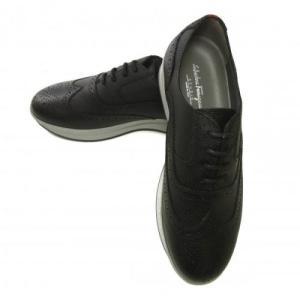 フェラガモ スニーカー 靴 メンズ レザー MARLOW レースアップ ブローグデザイン|piazza