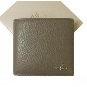 ヴィヴィアン 財布 二つ折り メンズ グレー オーブ ミラノ MILANO|piazza