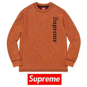 SUPREME シュプリーム Reverse Terry L/S Top / FW2017 / 即出荷|piccola