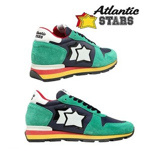 【取寄品】★Atlantic STARS★ スエードスニーカー/ Green&Blue|piccola