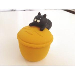 DECOLE nyacotto にゃんこつまみ小物入れ 黒猫|piccola