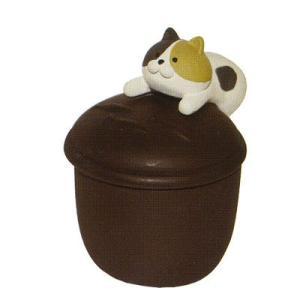 DECOLE nyacotto にゃんこつまみ小物入れ 三毛猫|piccola