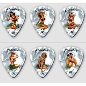 クレイトン ピック Hula Hotties GRAPHIC PICKS アーティストピック|pick-store