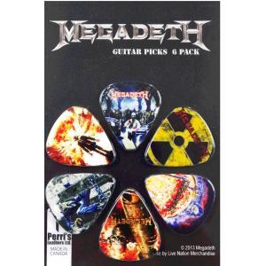 Perri's メガデス ピック MEGADETH LP-MD1 6枚セット アーティストピック|pick-store
