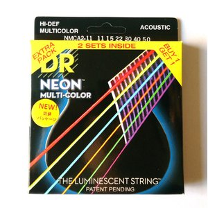 DR弦 エレキギター弦 NEON COATED MEDIUM LITE 11-15-22-30-40...