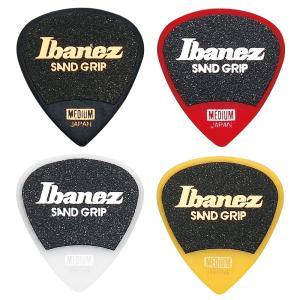 Ibanez アイバニーズ ピック PA16MSG ショート・ティアドロップ サンドグリップ MEDIUM|pick-store