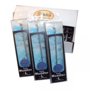 来客ホームパーティ バー用品 カクテル水割りスムージー用便利グッズ グラスマーカー&マドラーLサイズ3色組(クリアケース入り)|picklip