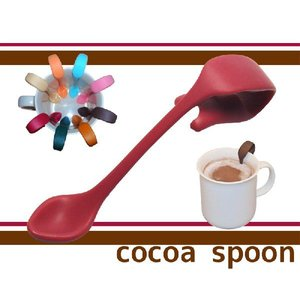 お友達へのプレゼントや誕生日ギフト/コーヒーカフェラテに便利な贈り物クリップ式ココアスプーン(レッド)|picklip