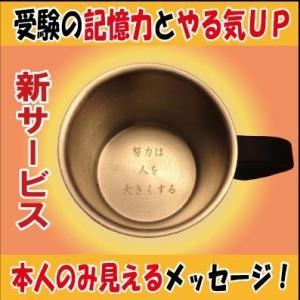 受験生応援・勉強対策・合格祈願グッズ・成績UPココアカップ(やる気UPメッセージ入りステンレス2重マグカップ)|picklip