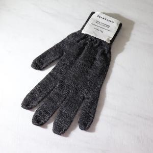 マーカウェア メンズ 手袋  MARKAWARE 18AW ALPACA KNIT GLOVE - D.SILVERGRAY/F|pickupplazashop