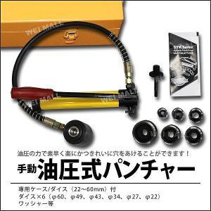油圧パンチャー 手動 油圧パンチ 10ton ダイス6個セット付き (クーポン配布中)|pickupplazashop