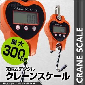 デジタルクレーンスケール充電式 クレーンスケール 0.3t(300kg)小型 吊りはかり (クーポン配布中)|pickupplazashop
