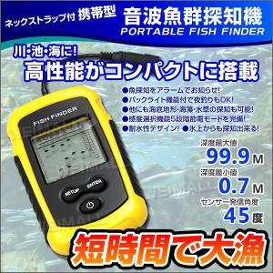 魚群探知機 携帯型 ポータブル ソナー ワカサギ釣り イワシ...