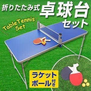 家庭用 卓球台 セット ピンポン 折りたたみテーブル ラケット ボール|pickupplazashop