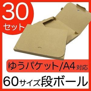 ゆうパケット用ダンボール A4 30mm クリックポスト対応 梱包用 30枚セット ダンボール箱 段ボール 日本製 梱包箱|pickupplazashop