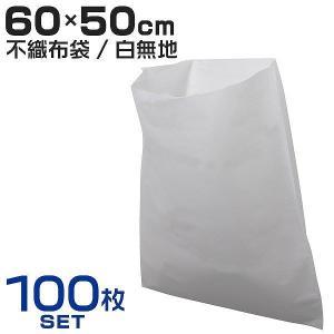 不織布 袋 不織布インナーバッグ 収納袋 60×50cm 100枚入 保護袋 保管袋 ほこりよけ 不織布袋|pickupplazashop